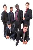 Homens de negócios inter-raciais na moda novos Foto de Stock