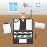 Homens de negócios no escritório ilustração royalty free