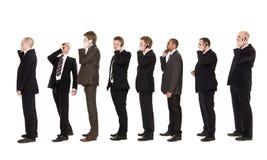 Homens de negócios no telefone fotografia de stock royalty free