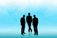 Homens de negócios nos trabalhos de equipa Fotos de Stock