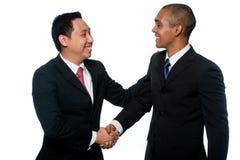 Homens de negócios novos imagem de stock royalty free