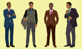 Homens de negócios pretos ilustração royalty free