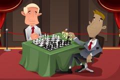 Homens de negócios que jogam a xadrez Imagem de Stock