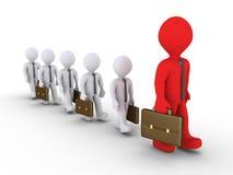 Homens de negócios que seguem o líder grande Imagens de Stock Royalty Free