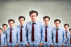 Homens de negócios sonolentos Fotografia de Stock Royalty Free
