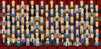 100 homens de negócios Fotografia de Stock Royalty Free