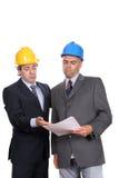 Homens de negócios em uma reunião, discutindo o projeto novo Imagens de Stock Royalty Free