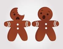 Homens de pão-de-espécie engraçados ilustração stock