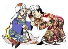 Homens de Síria, reproposed por desenhos antigos ilustração royalty free