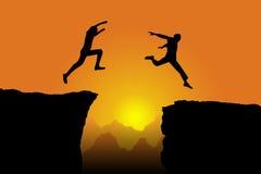 Homens de salto Imagem de Stock Royalty Free