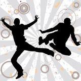 Homens de salto ilustração do vetor