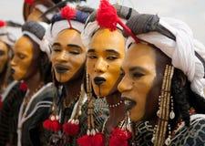 Homens de Wodaabe em Gerewol, cura Salee, Niger Imagens de Stock Royalty Free