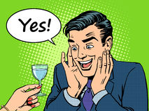 Homens do alcoólico da alegria ilustração do vetor