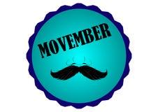 Homens do apoio de Movember na luta contra o câncer da próstata ilustração royalty free