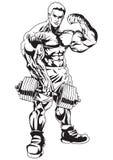 Homens do músculo ilustração stock
