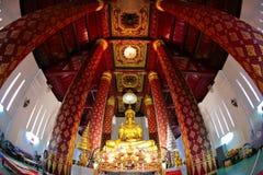 Homens do Na Phra de Wat, Ayuthaya, Tailândia Imagens de Stock