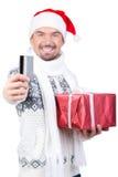 Homens do Natal Fotografia de Stock