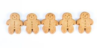 Homens do pão do gengibre Imagem de Stock