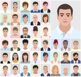 Homens do retrato, executivos, ilustração do vetor Imagem de Stock Royalty Free