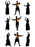 Homens e dançarinos das mulheres ilustração royalty free