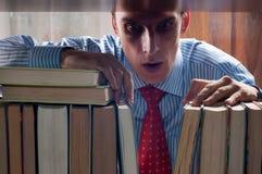 Homens e livro Fotos de Stock