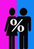 Homens e mulheres Imagens de Stock Royalty Free