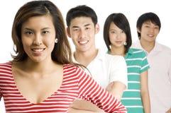 Homens e mulheres asiáticos Fotos de Stock Royalty Free