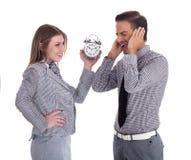 Homens e mulheres de negócio novos que têm Imagens de Stock