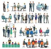 Homens e mulheres de negócio que interagem ilustração royalty free