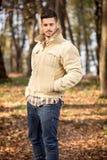 Homens elegantes no parque do outono Imagem de Stock Royalty Free