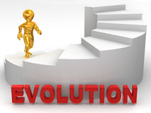 Homens em escadas. evolução 3d ilustração do vetor