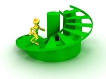 Homens em escadas. sucesso 3d ilustração do vetor