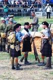 Homens em kilts escoceses fotografia de stock