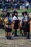 Homens em kilts escoceses fotos de stock