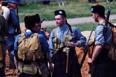 Homens em kilts escoceses fotos de stock royalty free
