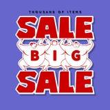 Homens grandes e venda grande Fundo da venda Foto de Stock Royalty Free