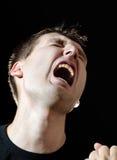 Homens gritando Imagens de Stock Royalty Free