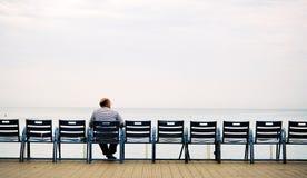 Homens idosos no banco Imagem de Stock Royalty Free