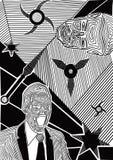 Homens lineares ilustração do vetor