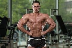 Homens musculares que dobram os músculos imagens de stock