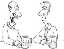 Homens na barra ilustração royalty free