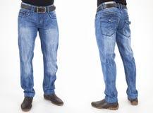 Homens na calças das calças de brim Imagem de Stock Royalty Free