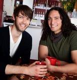 Homens na casa de café Imagens de Stock