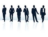 Homens na coleção dos ternos Foto de Stock