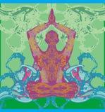 Homens na meditação Foto de Stock