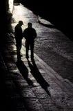 Homens na rua Cusco, Peru Fotografia de Stock