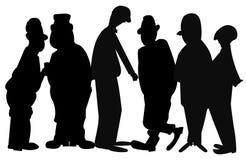 Homens na silhueta Imagem de Stock