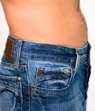 Homens nas calças de brim Fotos de Stock Royalty Free