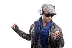 Homens negros novos frescos com ritmo imagens de stock