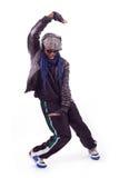 Homens negros novos que dançam o movimento fotos de stock